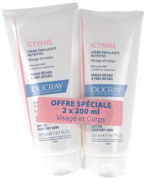 Ictyane Creme Emolliente Nutritive 2 X 200 Ml