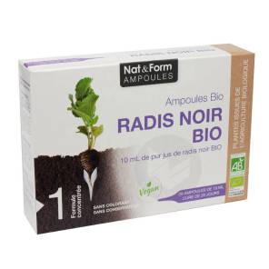 Nat Form Ampoules Radis Noir Bio S Buv 20 Amp 10 Ml