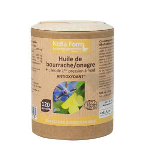 Huile Bourrache Onagre Bio Eco Responsable 120 Capsules