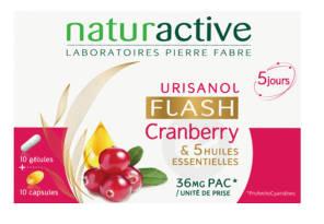 Urisanol Flash Cranberry 5 Huiles Essentielles 10 Gelules 10 Capsules