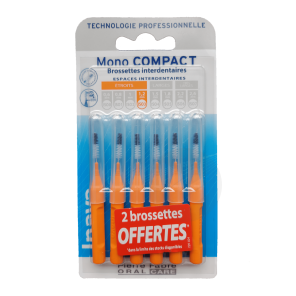 Brossettes Mono Compact Orange 6 2 Offertes