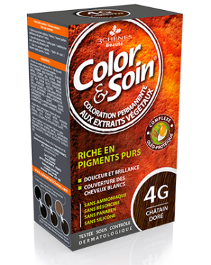 Color Et Soin Coloration Permanente Chatain Dore 4 G