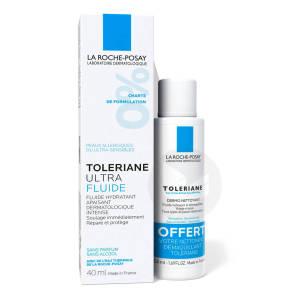 Toleriane Ultra Fluide Hydratant Apaisant Intense 40 Ml Demaquillant Offert