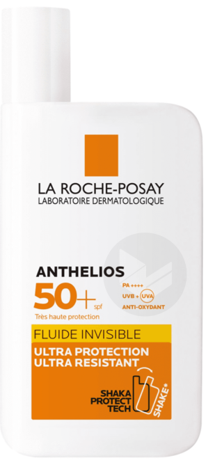 Anthelios Creme Solaire En Fluide Invisible Visage Spf 50 Avec Parfum 50 Ml Eau Thermale 50 Ml Offerte