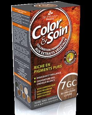 Color Et Soin Coloration Permanente Blond Dore Cuivre 7 Gc