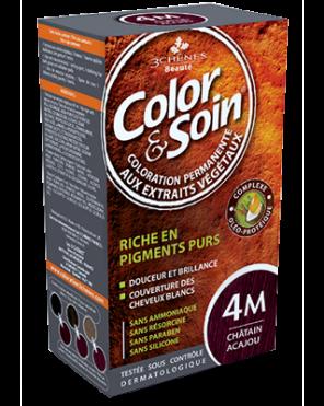 Color Et Soin Coloration Permanente Chatain Acajou 4 M