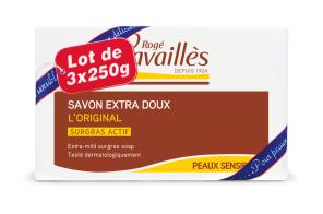 Savon Surgras Extra Doux L Original 3 X 250 G
