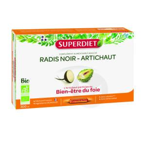 Radis Noir Artichaut Bio 20 Ampoules De 15 Ml