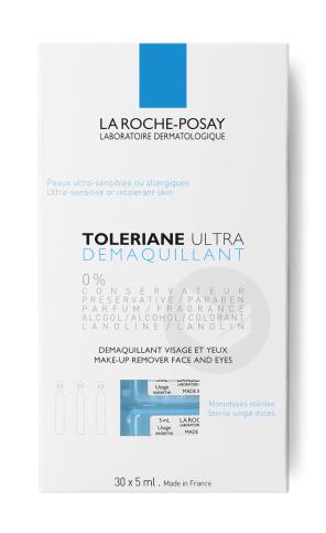 Toleriane Ultra Demaquillant Visage Et Yeux Peaux Ultra Sensibles A Allergiques Monodoses Steriles 30 X 5 Ml