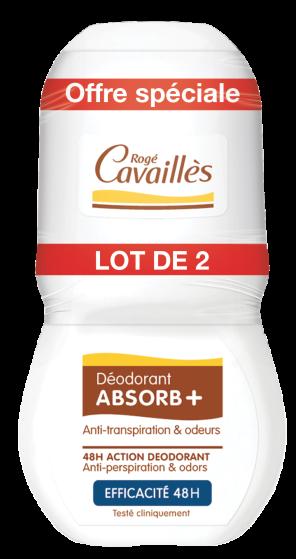 Deodorant Absorb Efficacite 48 H Roll On 2 X 50 Ml