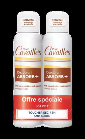Deodorant Absorb Efficacite 48 H Spray 2 X 150 Ml