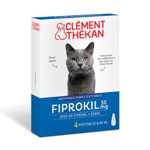 Fiprokil 50 Mg Spot On Chats X 4