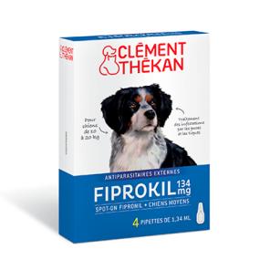 Fiprokil 134 Mg Spot On Chien Moyen 10 20 Kg X 4