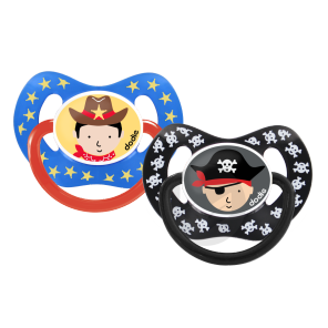 Sucette 18 Mois Duo Physio Pirate Cowboy P 50