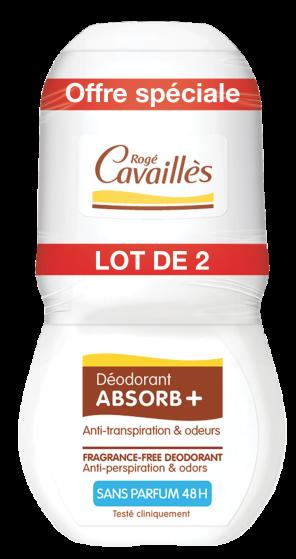 Deodorant Absorb Sans Parfum Roll On 2 X 50 Ml