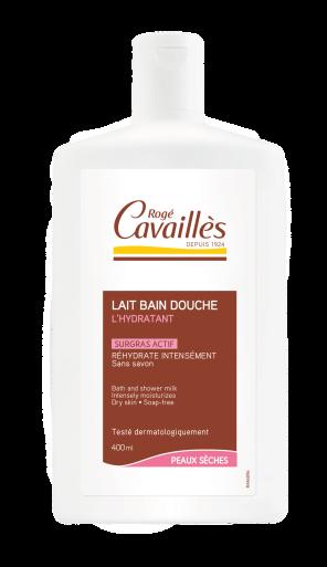 Lait Bain Douche Surgras Actif L Hydratant Peaux Seches 400 Ml