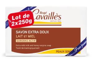 Savon Surgras Extra Doux Lait Miel 2 X 250 G