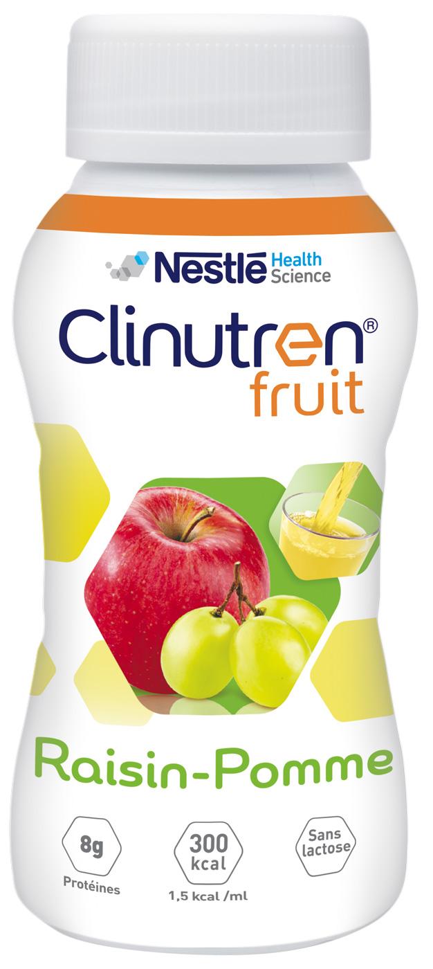 Clinutren Fruit Raisin pomme 4x200ml