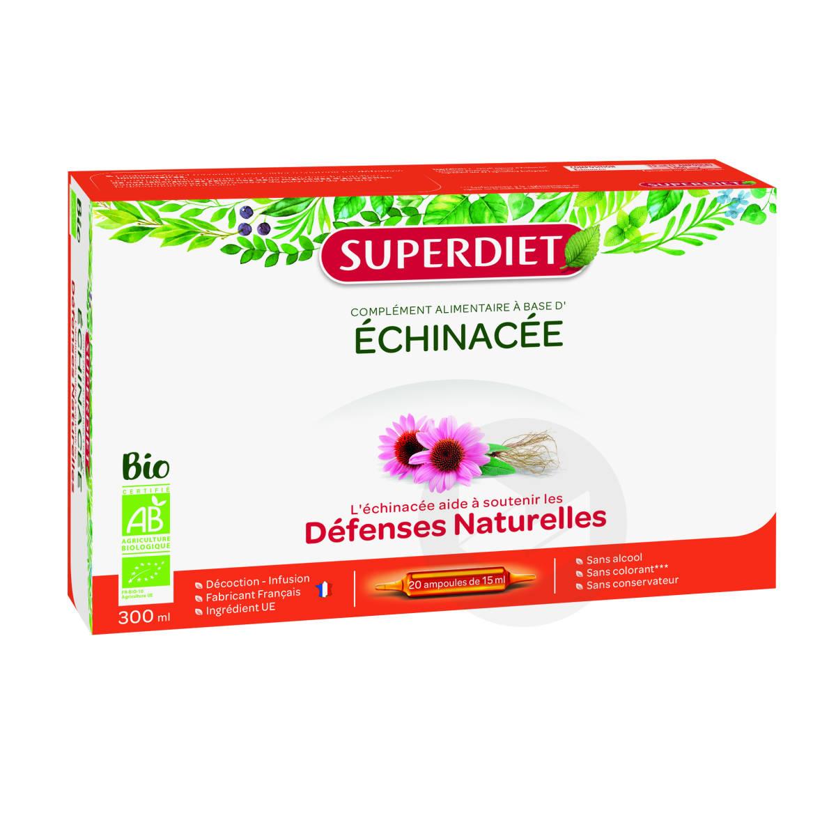 Echinacee Bio 20 Ampoules De 15 Ml