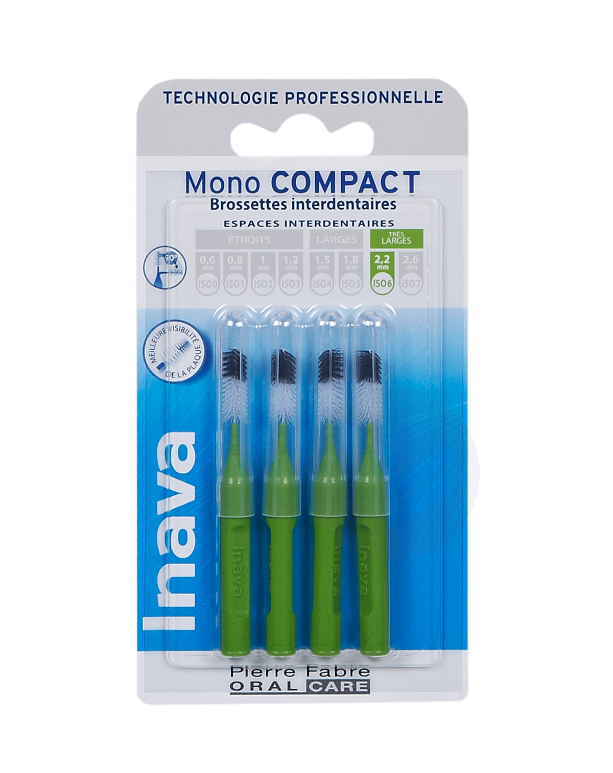 Brossettes Mono-Compact Vert ISO 6 - 2,2mm x4