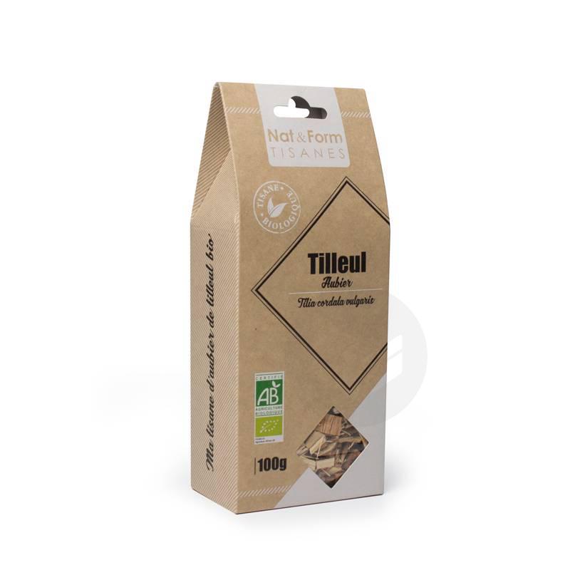 NAT&FORM TISANES Aubier de tilleul blanc écorce Bio Tis B/100g