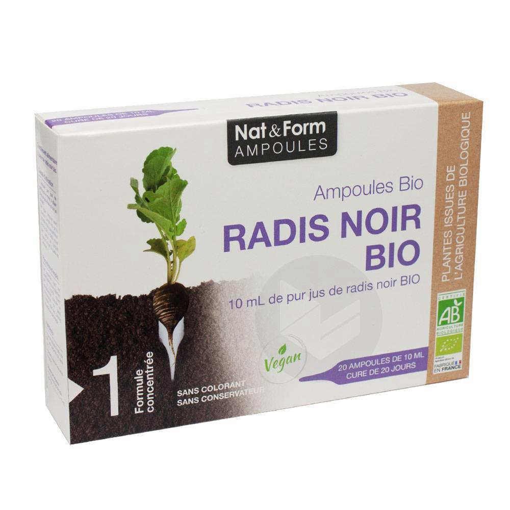 NAT&FORM AMPOULES Radis noir Bio S buv 20Amp/10ml