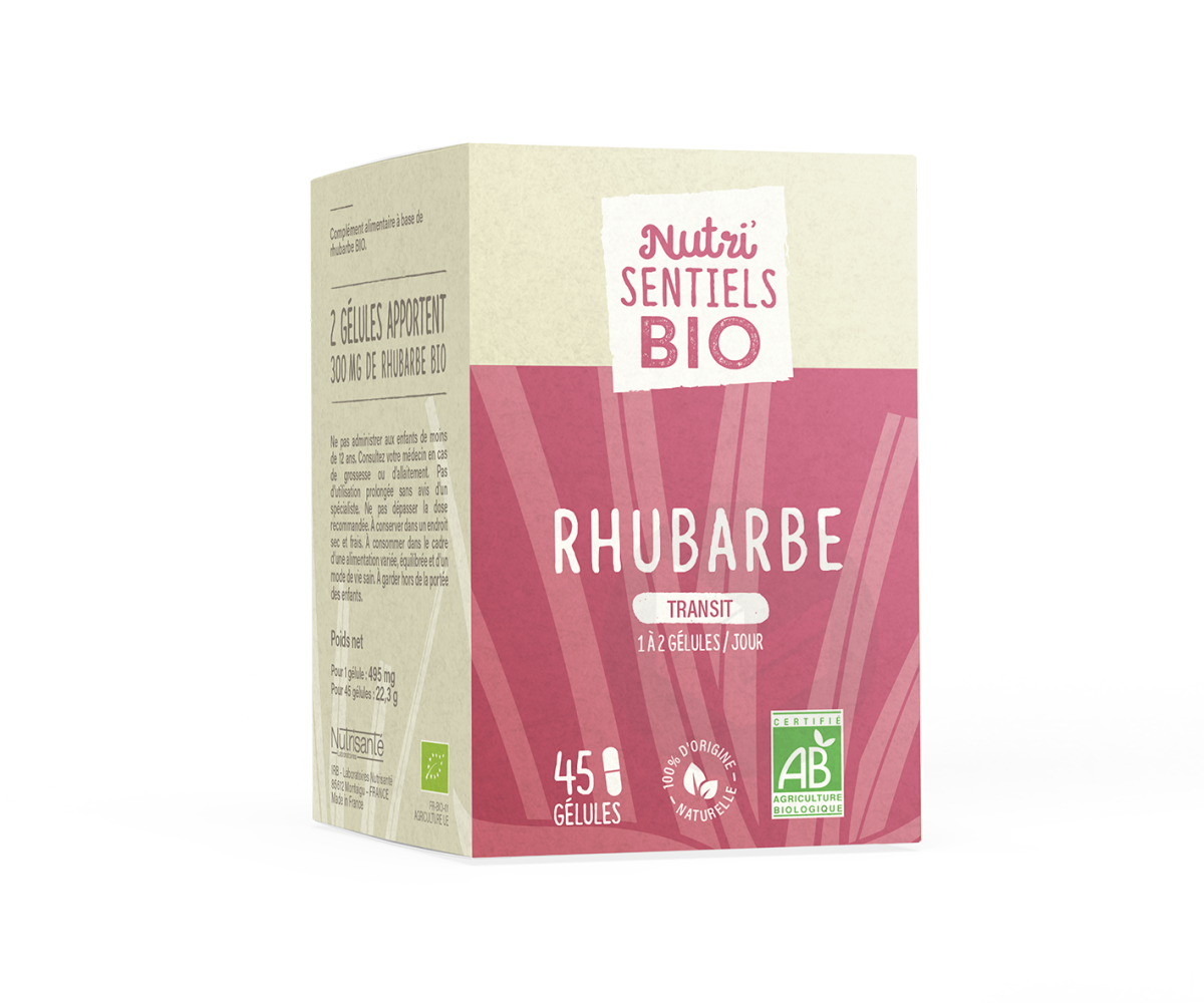 Rhubarbe Bio 45 gélules