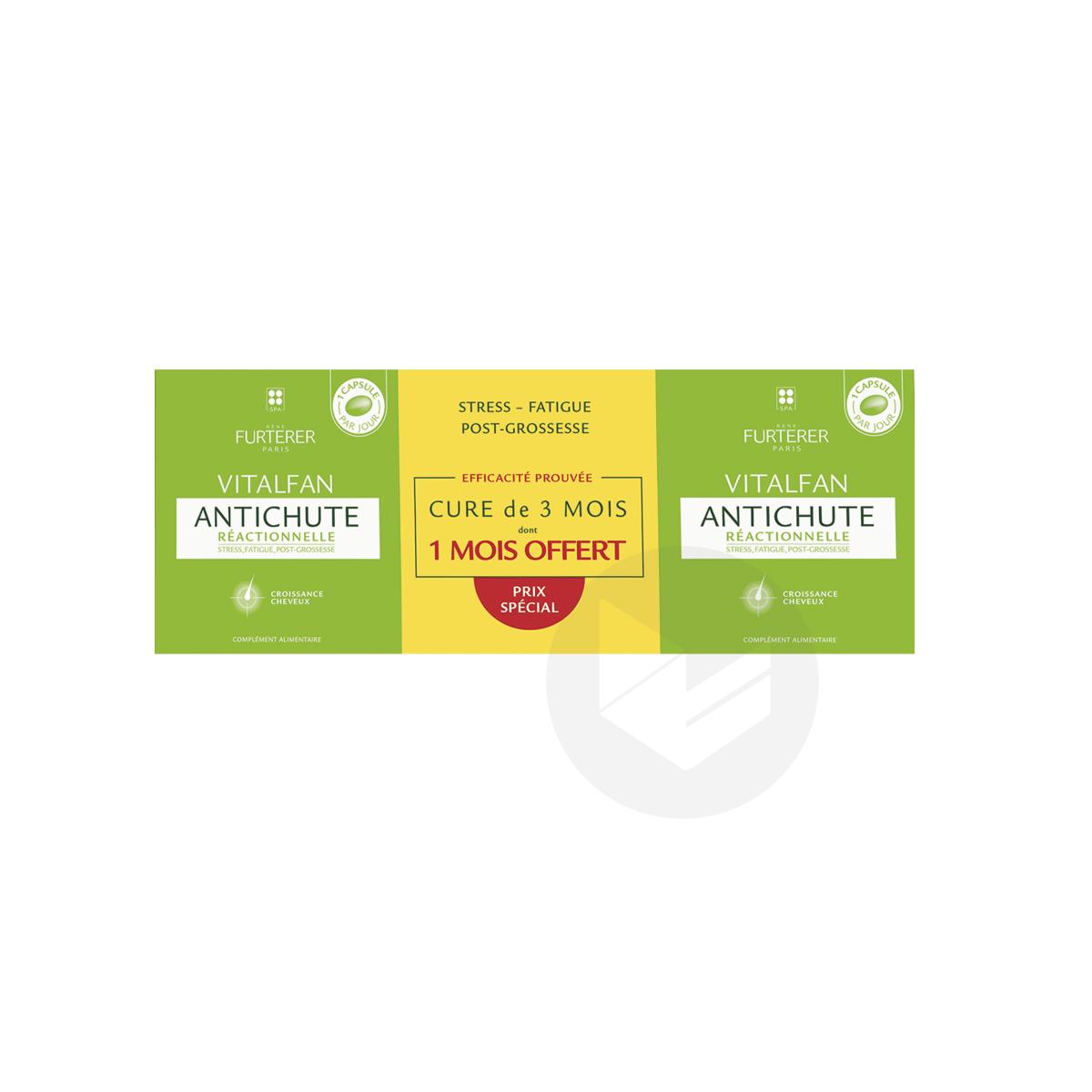 Antichute réactionnelle complément alimentaire pousse cheveux 3x30 capsules