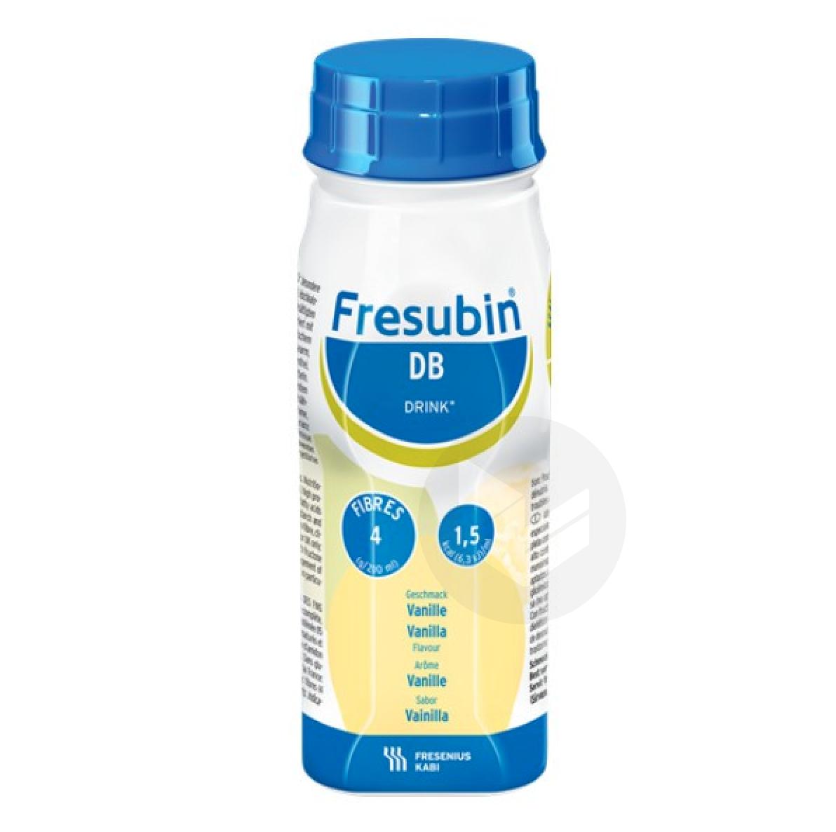 FRESUBIN DB DRINK Nutriment vanille 4Bouteilles/200ml
