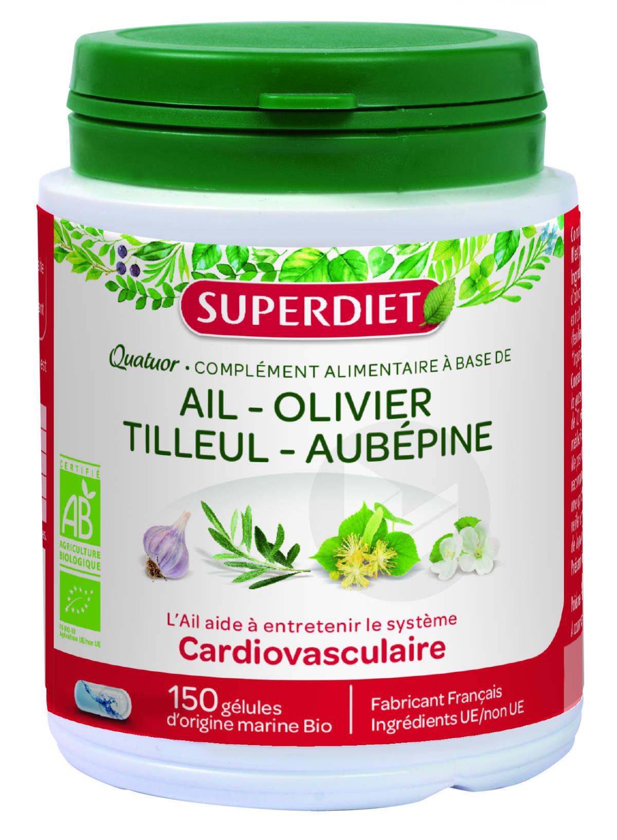 Quatuor Ail Cardiovasculaire Bio 150 Gelules