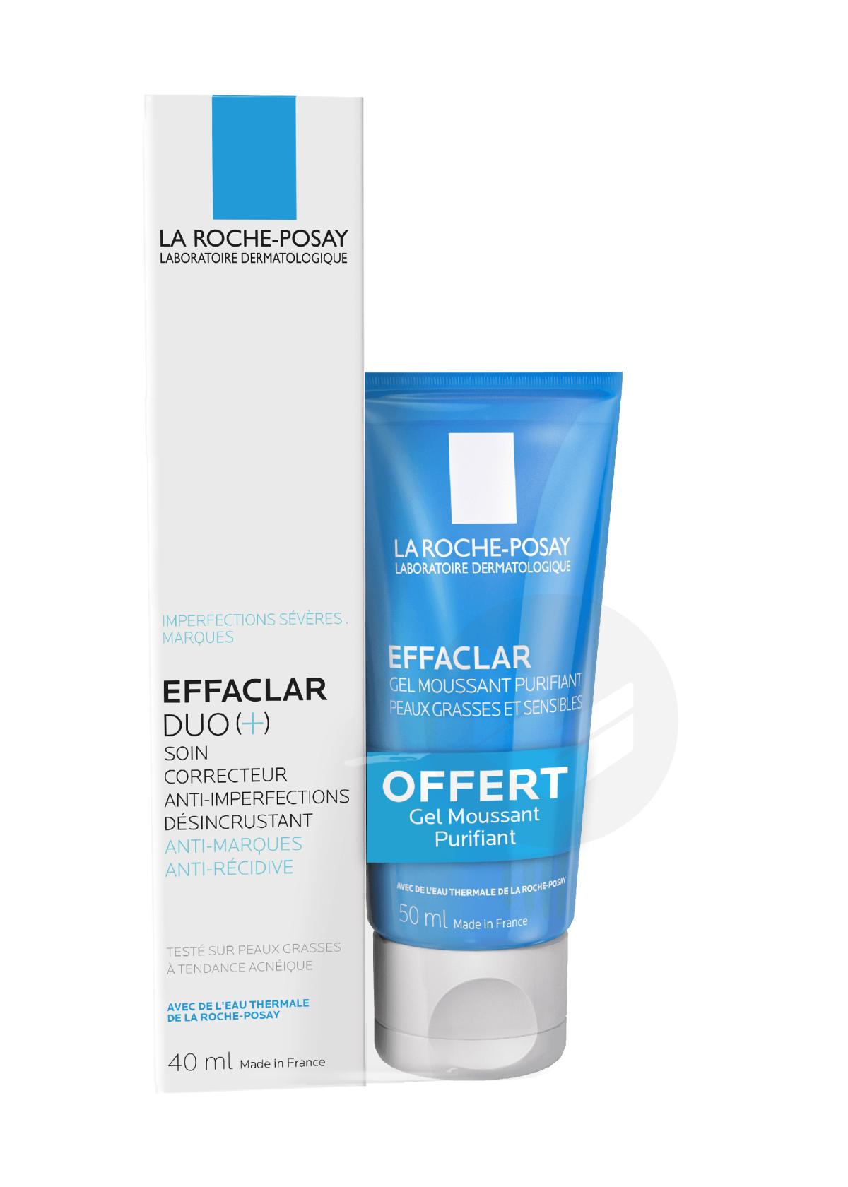 Effaclar Duo(+) Soin correcteur anti-imperfections désincrustant anti-marques anti-récidive 30ml + Gel Moussant offert