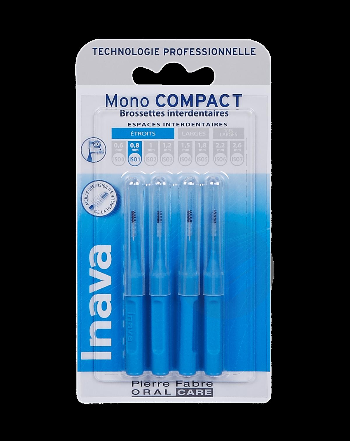 Brossettes Mono-Compact Bleu ISO 1 - 0,8mm x4