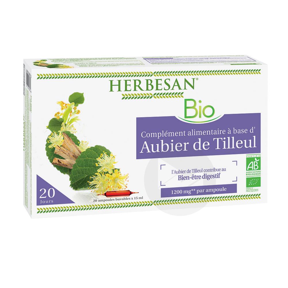 Aubier De Tilleul Bio 20 Ampoules De 15 Ml