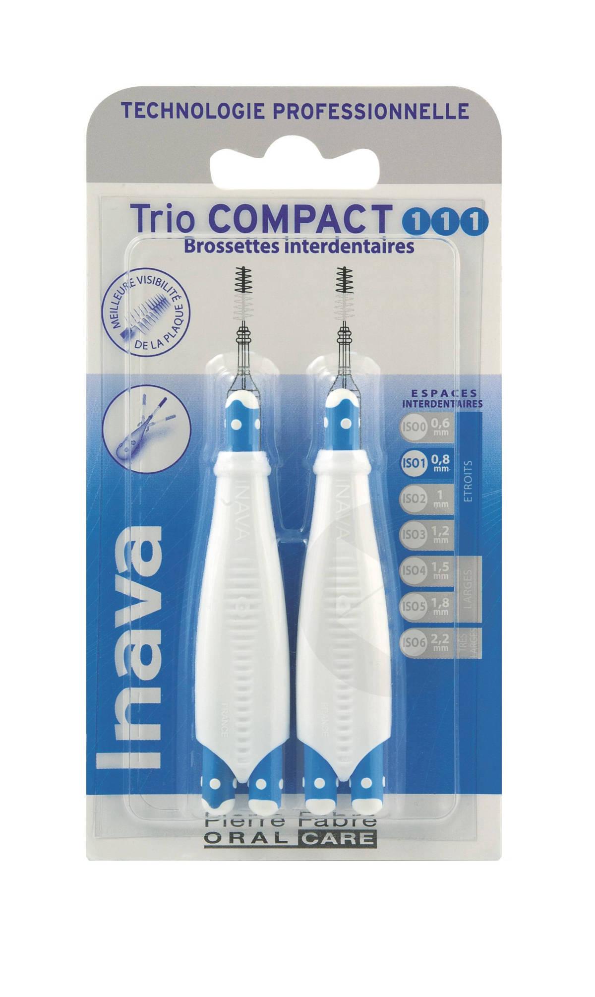 Brossettes Trio Compact étroit 111 bleu 0,8mm x2
