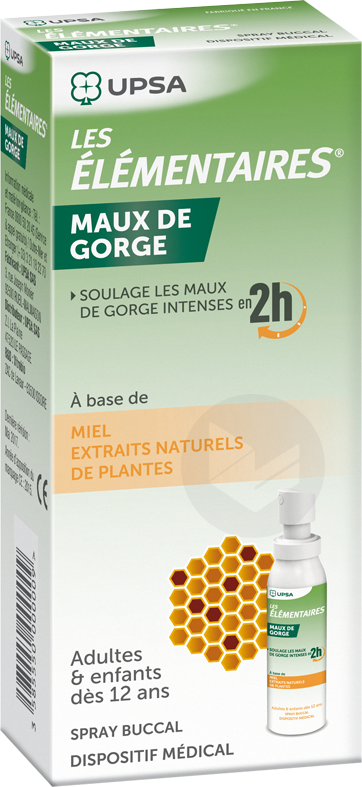 LES ELEMENTAIRES Maux de Gorge Adultes spray buccal 30ml
