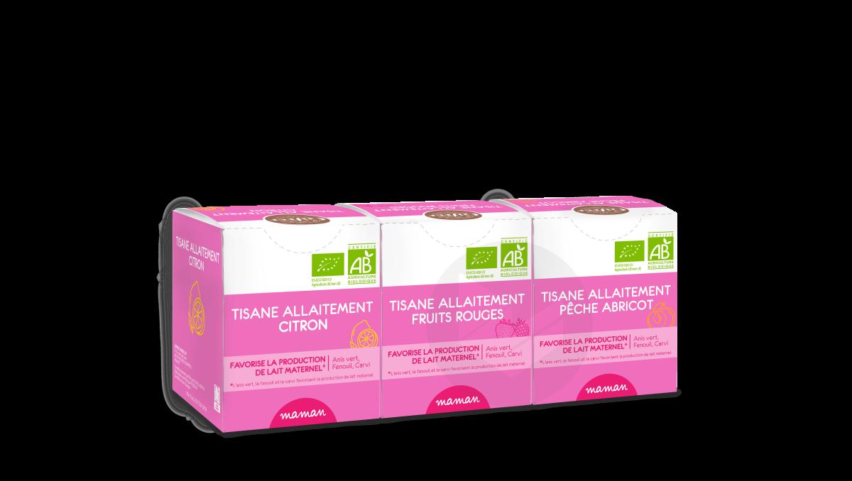Coffret Tisanes Allaitement 3 Parfums 3 X 10 Sachets