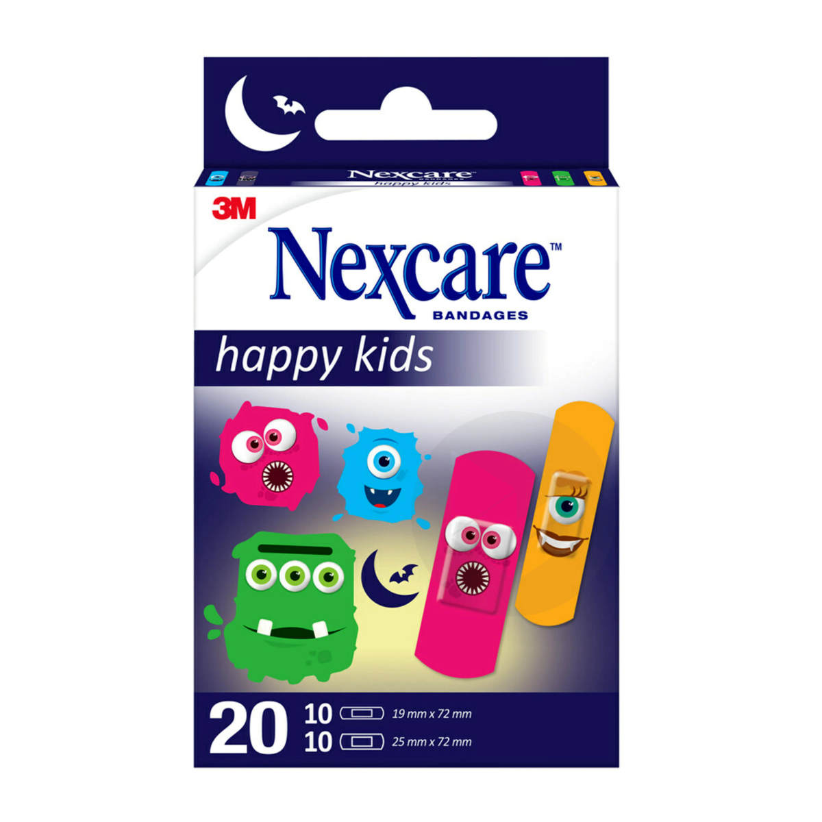 Nexcare Happy Kids Monstres X 20