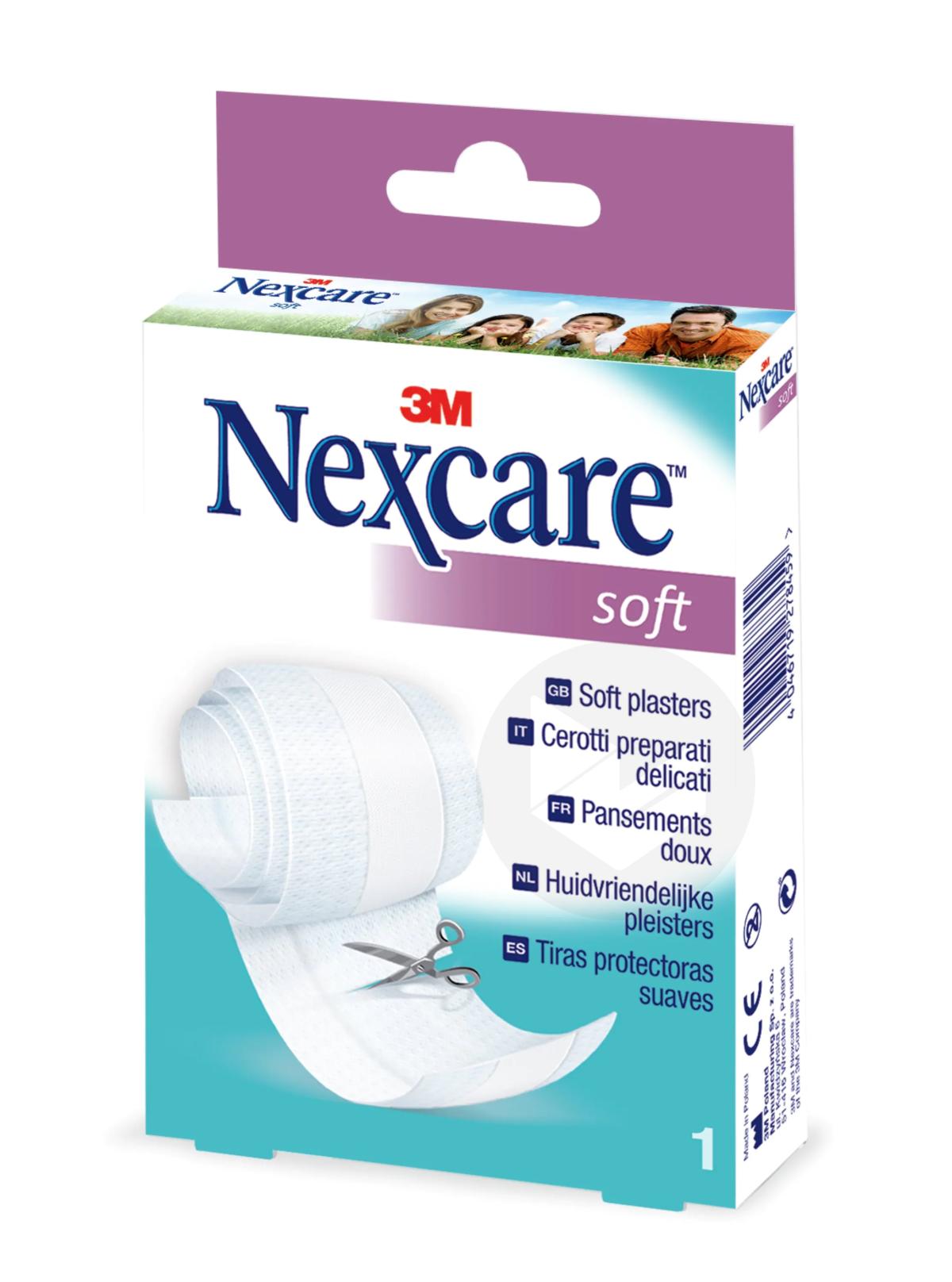 Nexcare Soft Bande à découper blanc 8cm x 1m