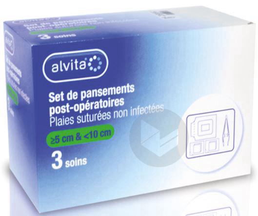 ALVITA Set pansement post opératoire <10cm B/3
