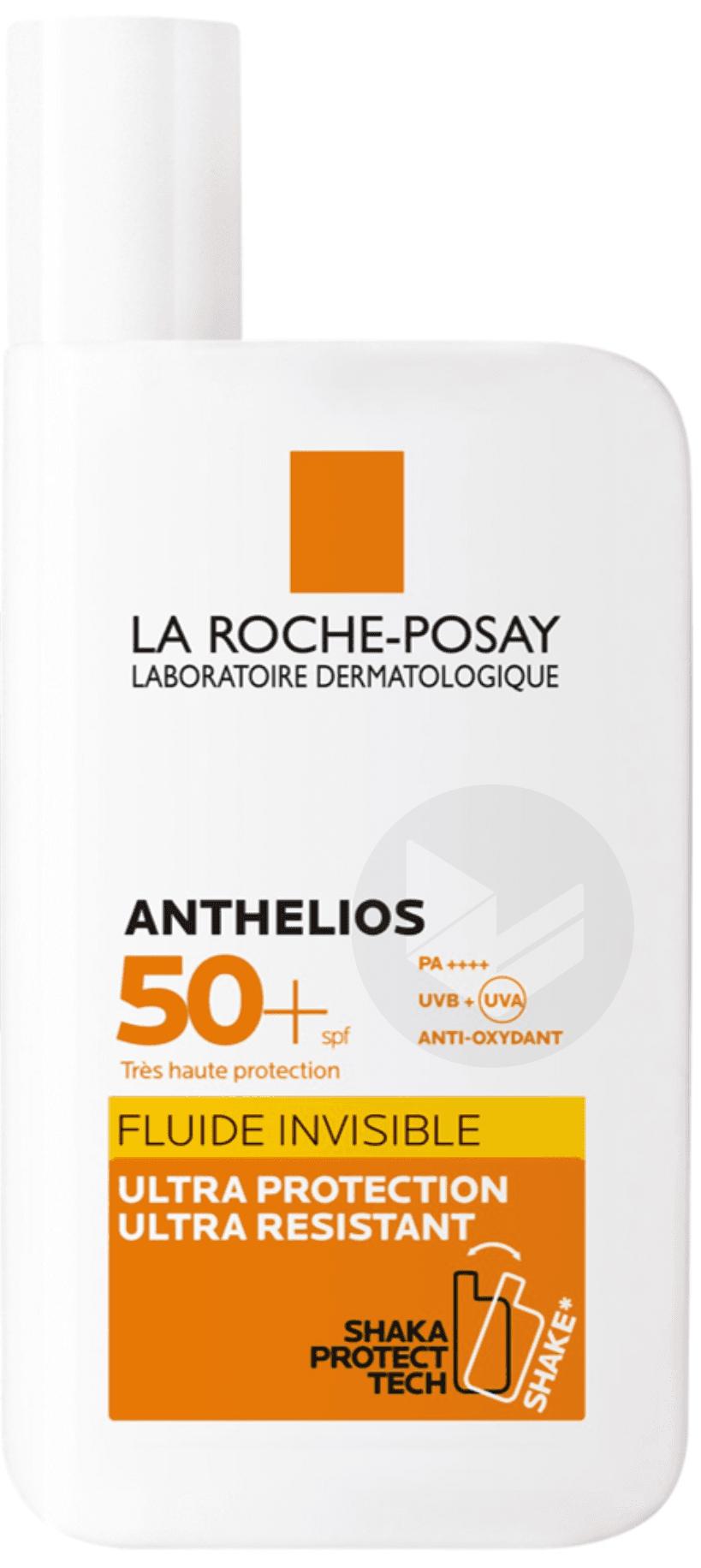 Anthelios Crème Solaire en Fluide Invisible Visage SPF50+ Avec Parfum 50ml