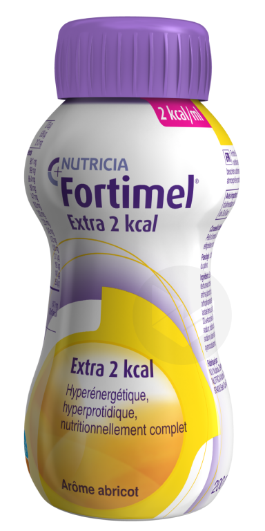 Fortimel Extra 2 Kcal Nutriment Abricot 4 Bouteilles 200 Ml