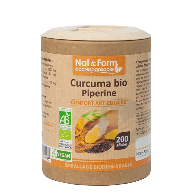 Nat Form Curcuma Piperine Bio Gel B 200