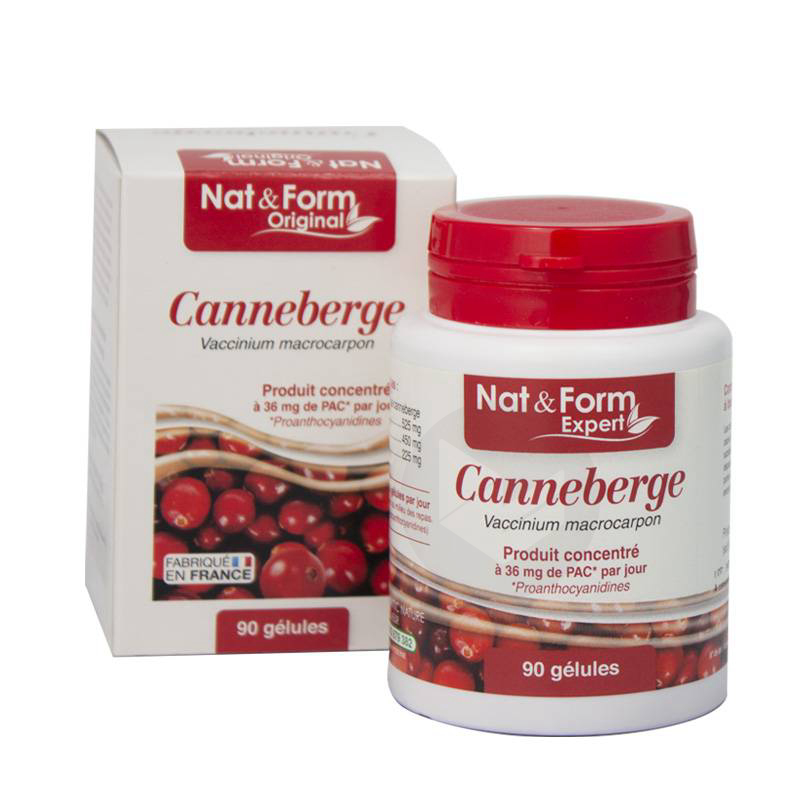 NAT&FORM EXPERT Canneberge 7% PAC Gél B/90