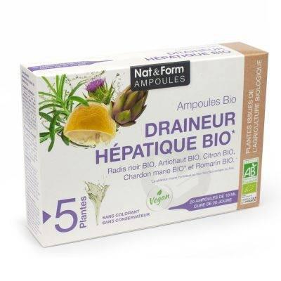 NAT&FORM AMPOULES S buv draineur hépatique Bio 20Amp/10ml