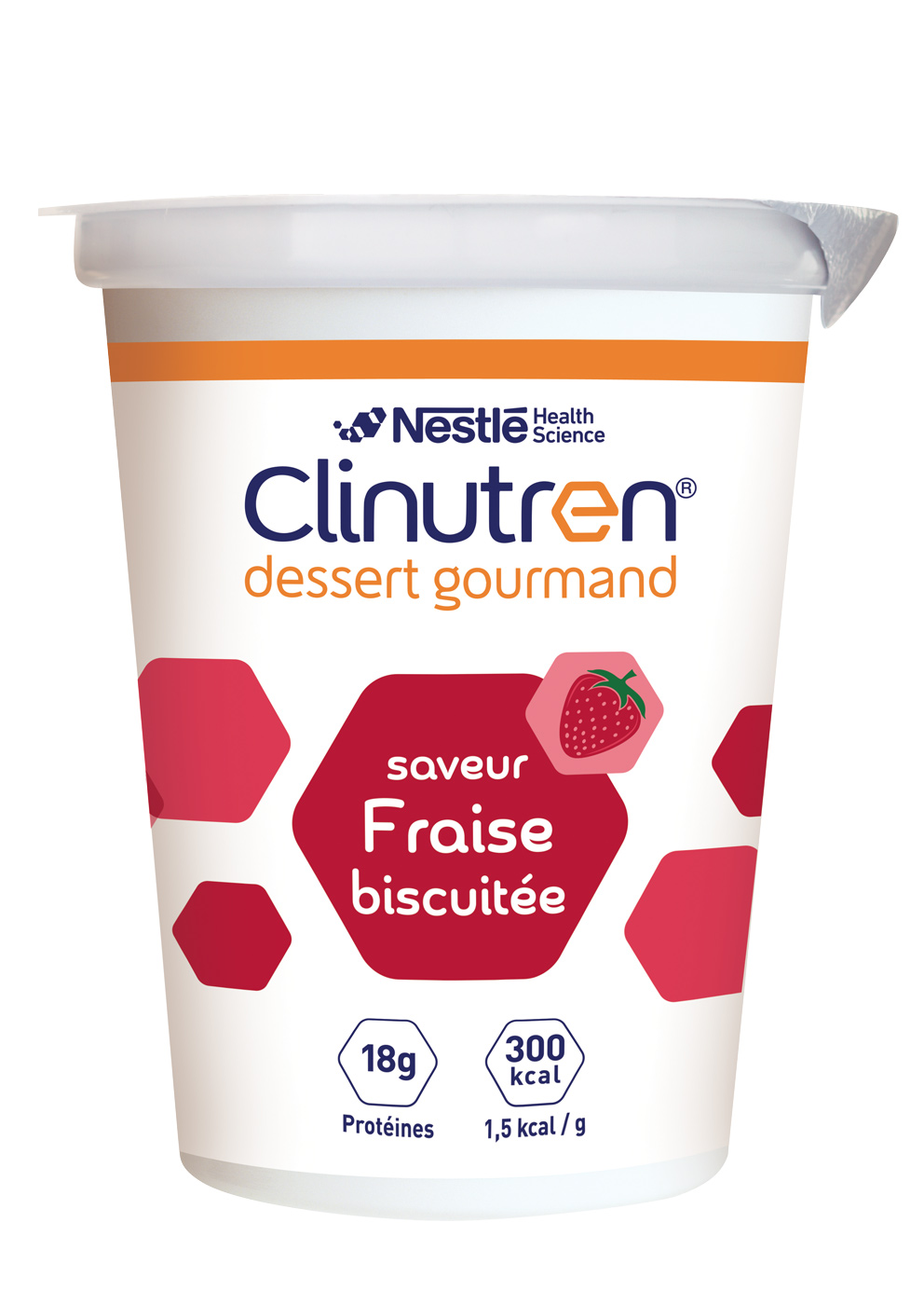 Clinutren Dessert Gourmand Fraise Biscuitee 4 X 200 G