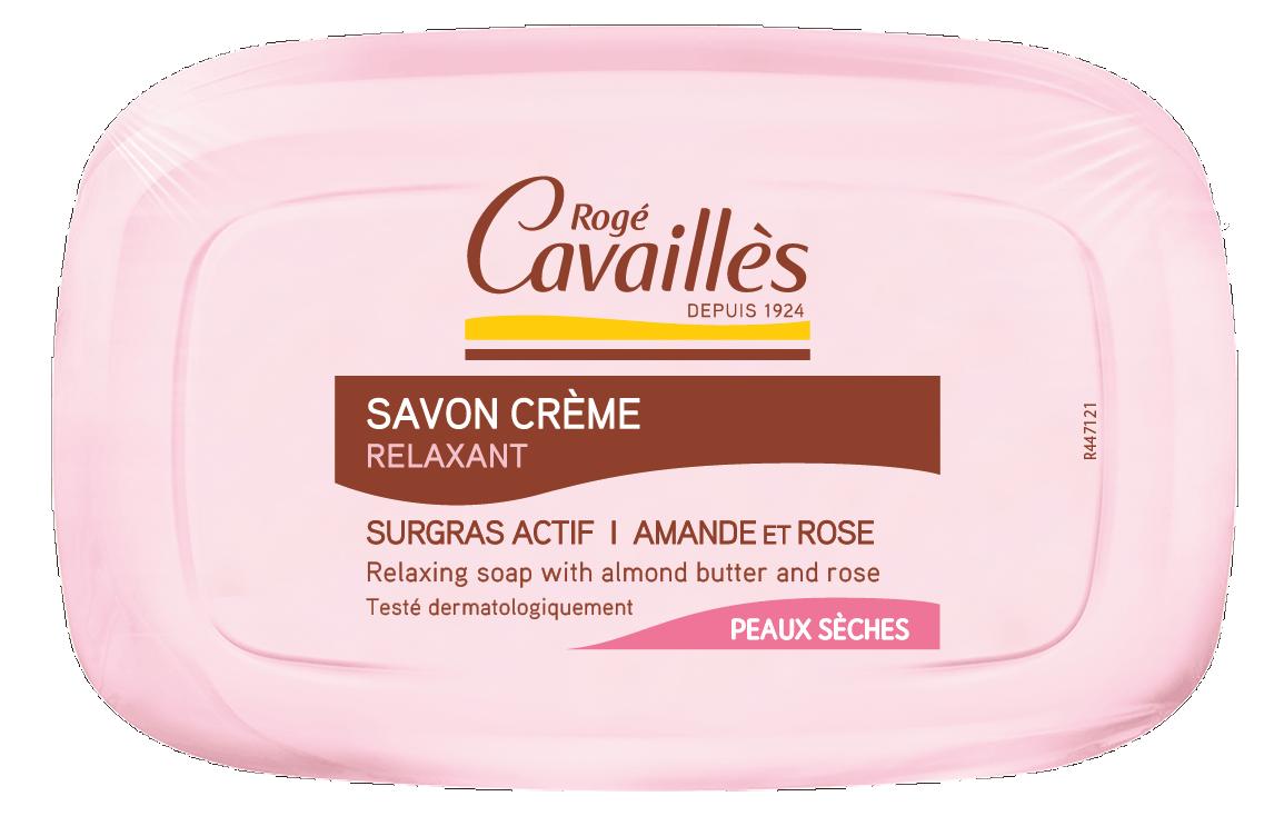Savon crème relaxant amande et rose 115g