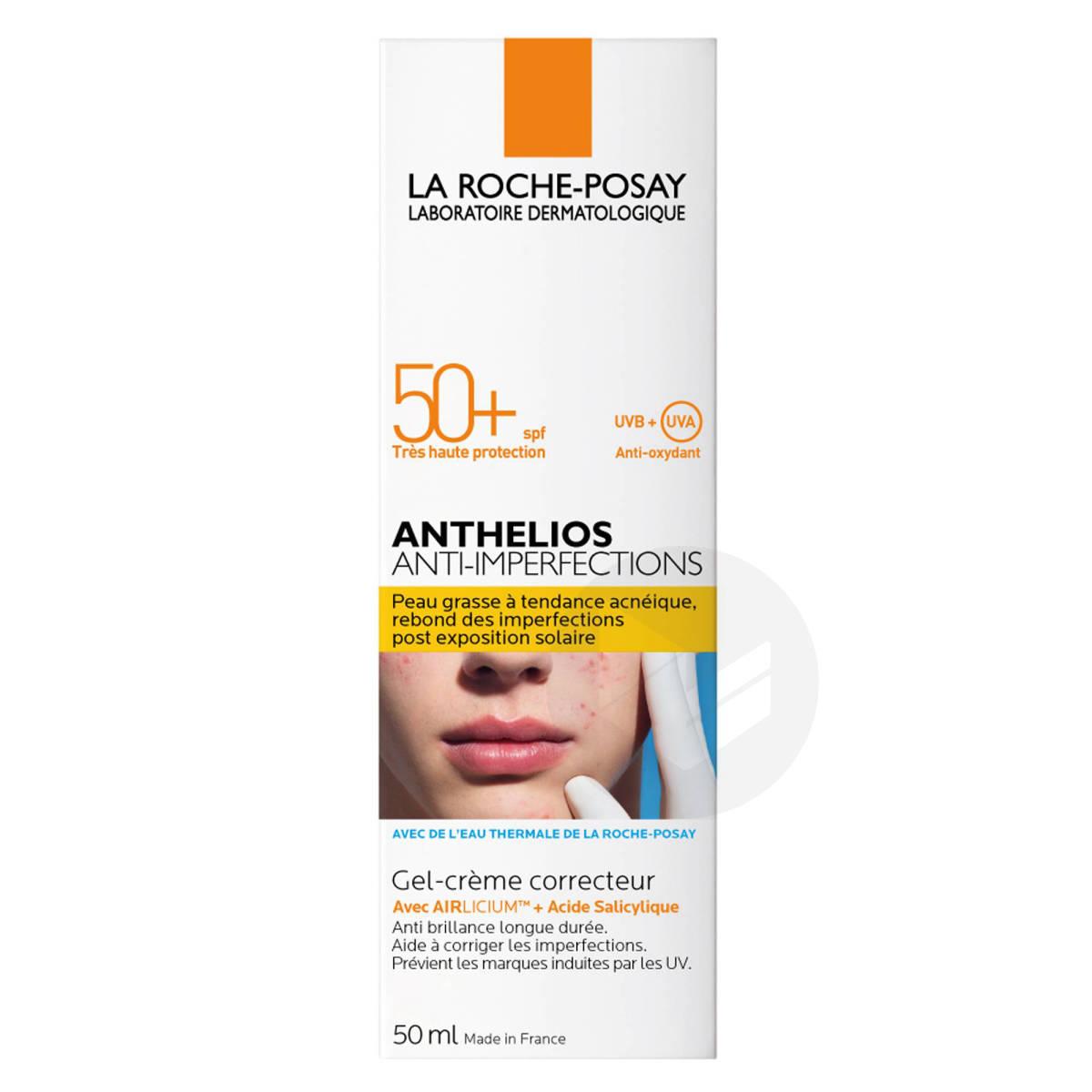 Anthelios Crème Solaire en Gel-Crème Anti-Imperfections Visage SPF50+ Sans parfum 50ml