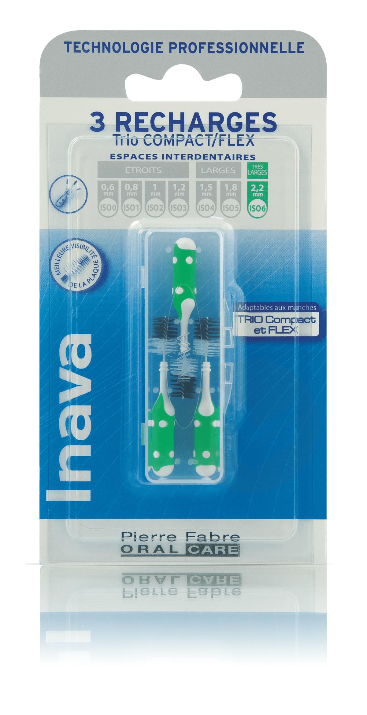Brossettes Recharges Vert ISO 6 2,2mm x3