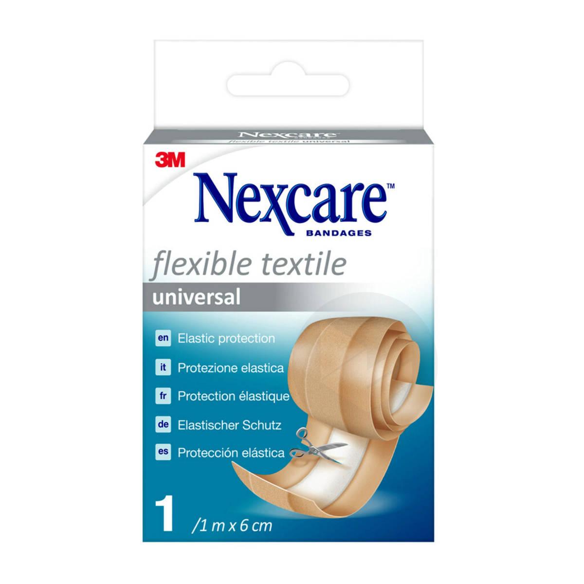 Pansement textile universel Nexcare Flexible, 1m x 6cm