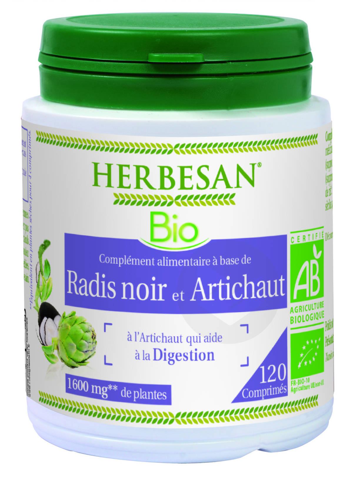 Radis Noir Artichaut Bio 120 Comprimes